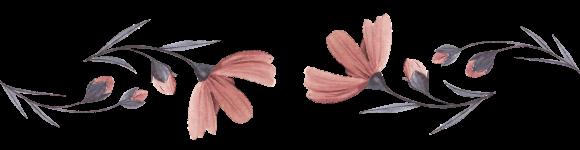 un disegno di dei fiori rosa